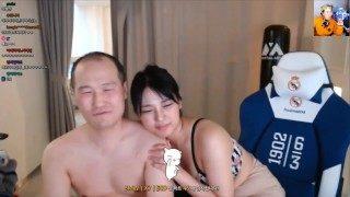브베 주물럭 Korean old man bj with korean sexy bj